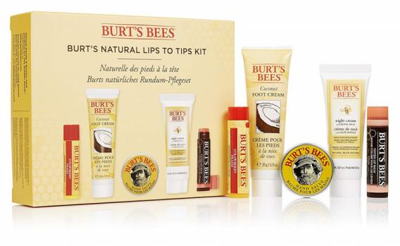 Burt's Bees Cadeauset Natural Lips To Tips