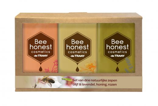Bee Honest Cadeauset Zeep 3 x 100 gram