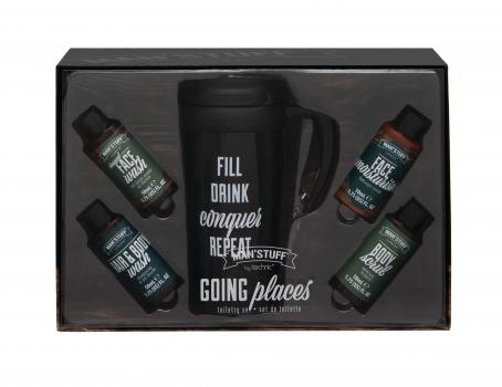 Man'Stuff Cadeauset Going Places + Travel Mug