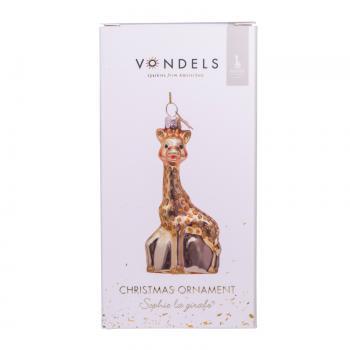 Sophie de Giraf Kerst Ornament in luxe cadeaudoos