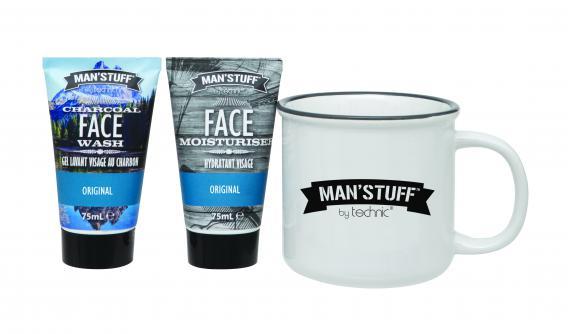 Man'Stuff Cadeauset Mug Face Care Set