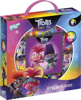 Trolls Sticker Box met 980 stickers