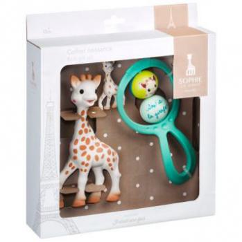 Sophie de Giraf Cadeauset Rammelaar   Sophie de Giraf Bijt   Sleutelhanger