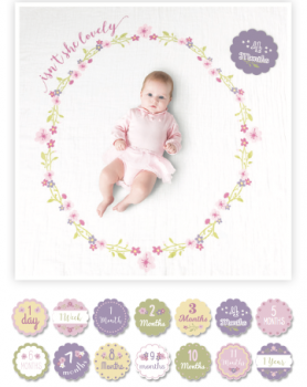 Lulujo Swaddle&Cards Baby's First Year   Lulujo Swaddle&Cards   Isn't she Lovely