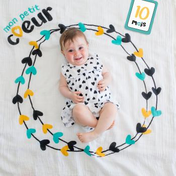 Lulujo Swaddle&Cards Baby's First Year | Mon Petit Coeur