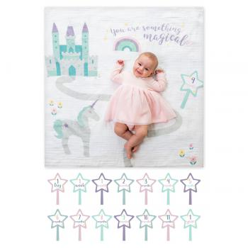 Lulujo Swaddle&Cards Baby's First Year | Something Magical