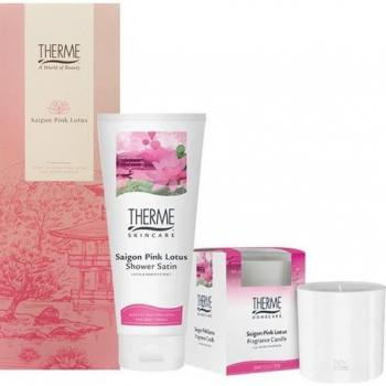 Therme Cadeauset Saigon Pink Lotus Wijndoos
