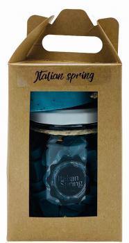 Soap & Gifts Giftset Glazen pot met mini zeepjes en Soap on a rope Italian Spring