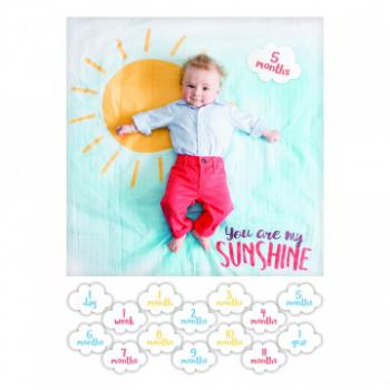 Lulujo Swaddle&Cards Baby's First Year   You are my Sunshine